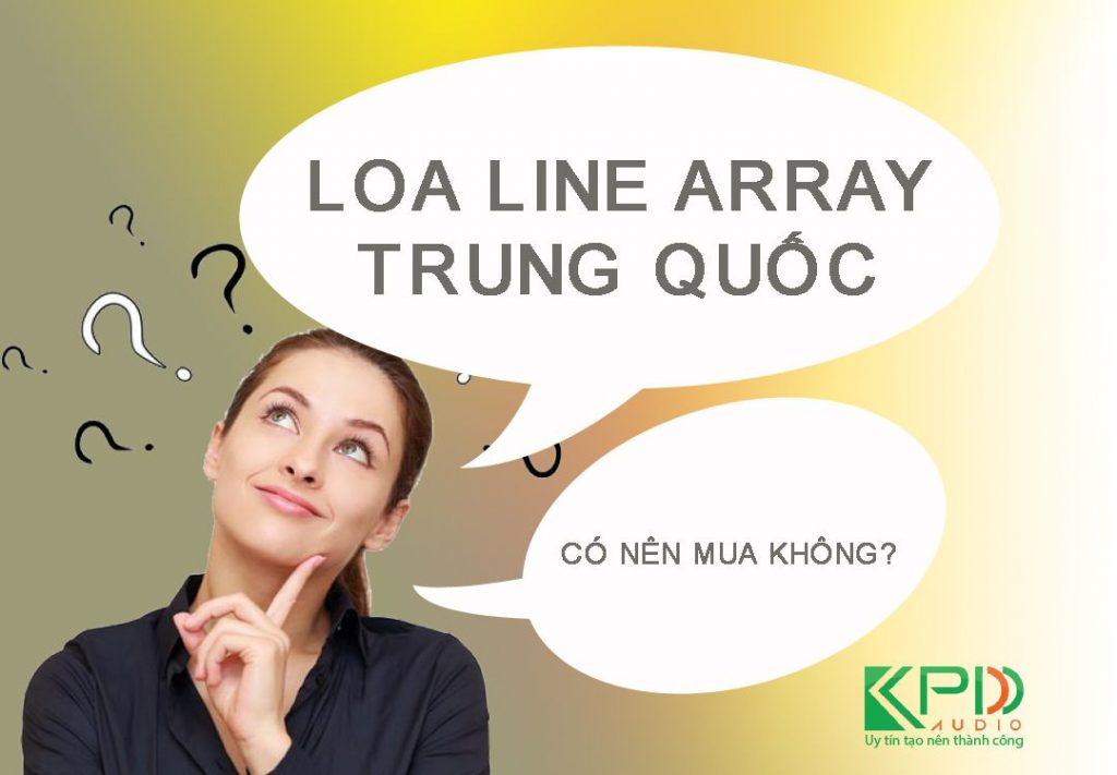 Có nên mua loa line Array Trung Quốc cho dàn âm thanh đám cưới