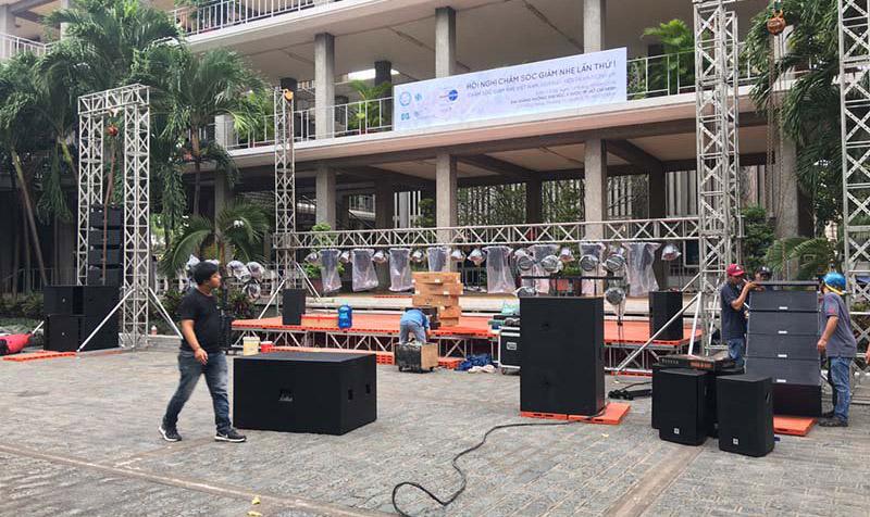 Dàn loa đám cưới công suất lớn do Khang Phú Đạt Audio lắp đặt