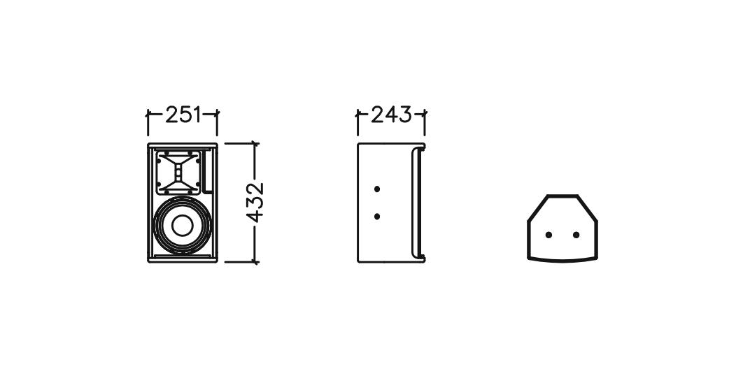 Kích thước các chiều của loa Star sound HS8 II