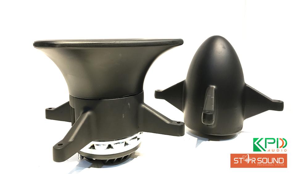 Phần bass hình tên lửa và treble loa hình kèn của lao hỏa tiễn Star Sound T24N