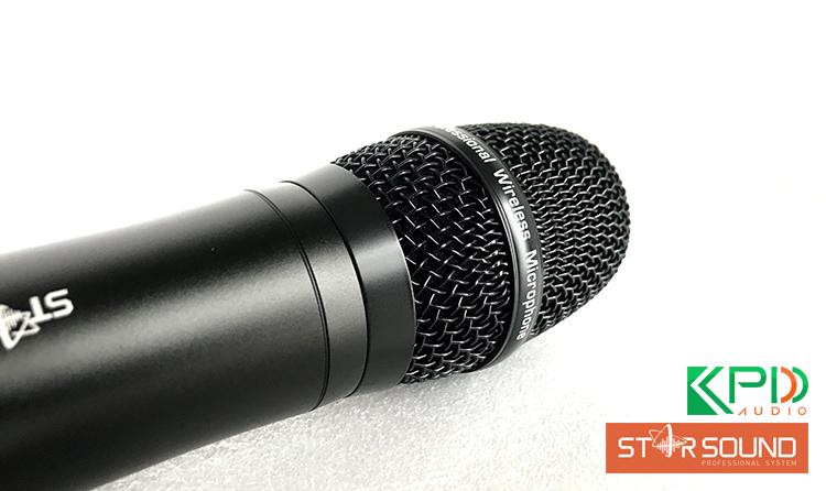 Chụp mic được làm từ thép cao cấp, có phần lọc âm, chống bụi cực tốt