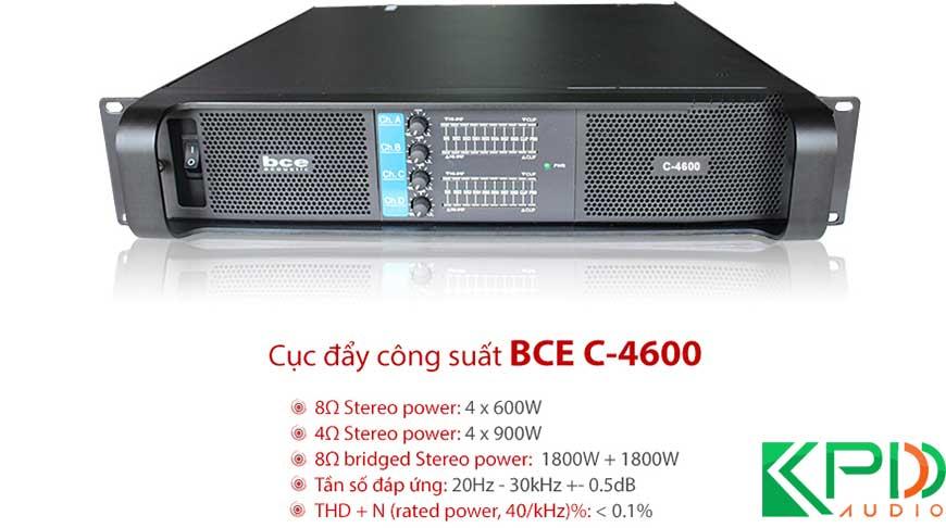 Cục đẩy 4 kênh công suất lớnBCE C4600