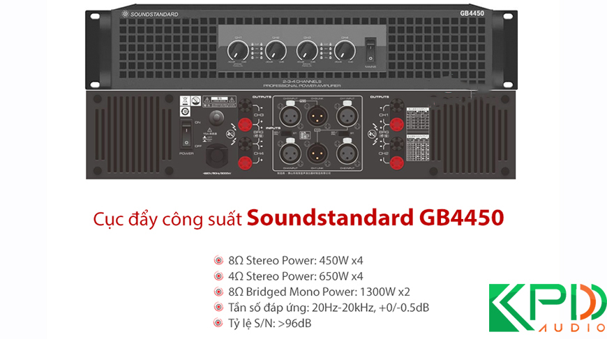 Cục đẩy công suất 4 kênh Trung Quốc Soundstandard GB4450